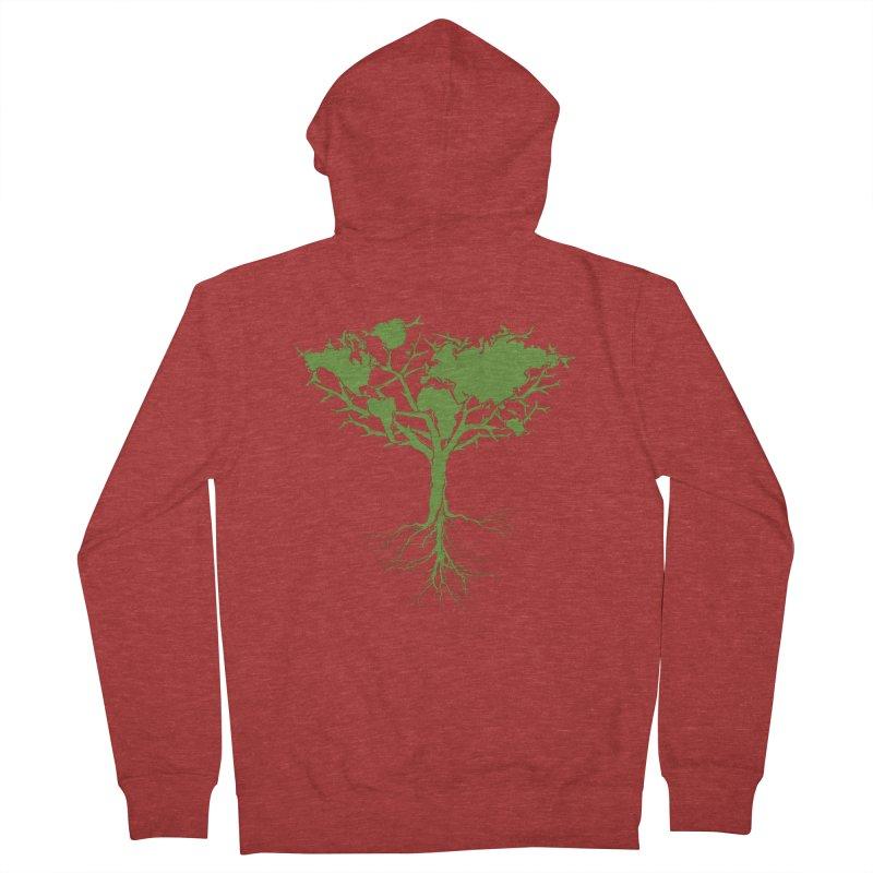Earth Tree Men's Zip-Up Hoody by Yanmos's Artist Shop