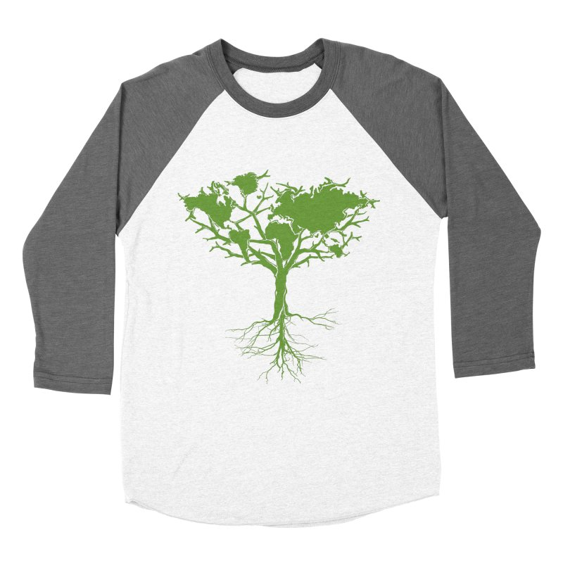 Earth Tree Women's Baseball Triblend T-Shirt by Yanmos's Artist Shop