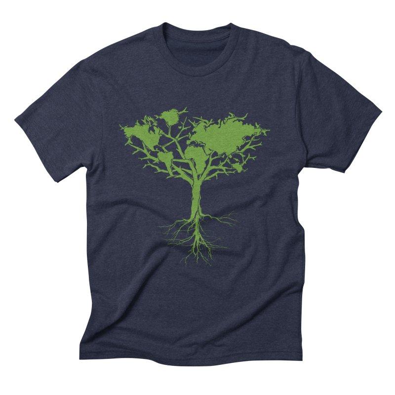 Earth Tree Men's Triblend T-shirt by Yanmos's Artist Shop
