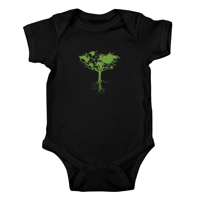 Earth Tree Kids Baby Bodysuit by Yanmos's Artist Shop