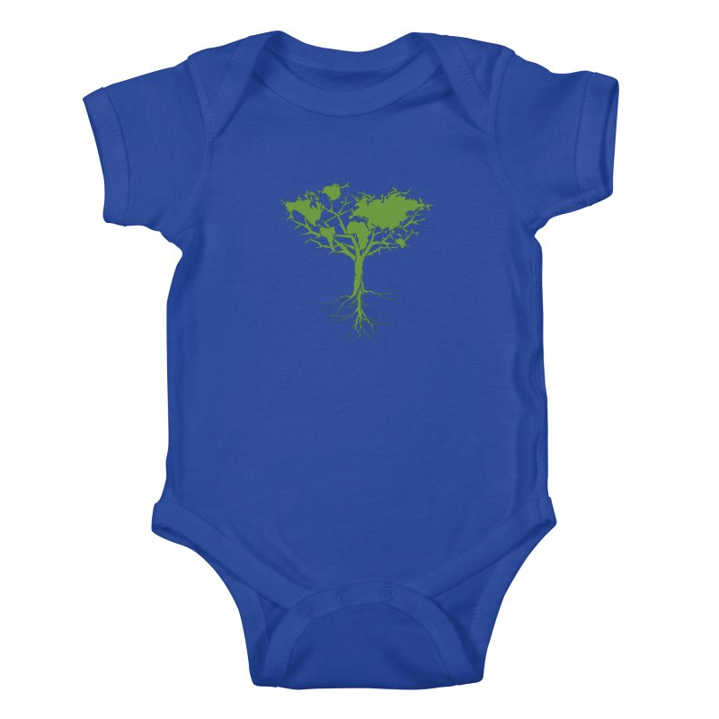 Earth Tree Kids Baby Bodysuit by Yanmos's Artist Shop