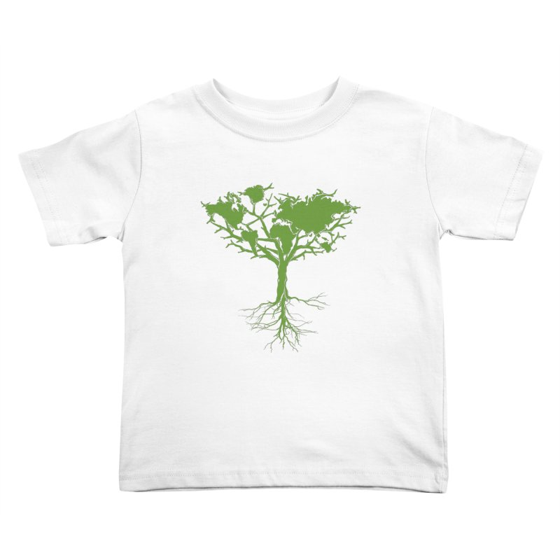 Earth Tree Kids Toddler T-Shirt by Yanmos's Artist Shop