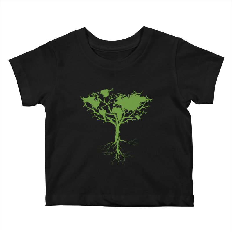 Earth Tree Kids Baby T-Shirt by Yanmos's Artist Shop