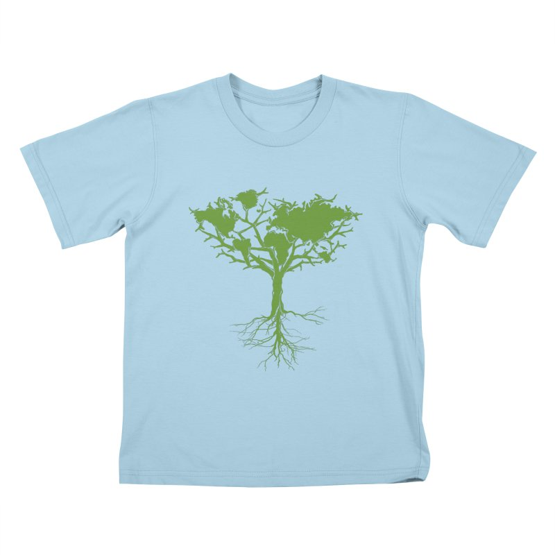 Earth Tree Kids T-shirt by Yanmos's Artist Shop