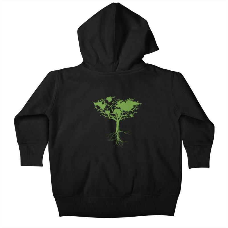 Earth Tree Kids Baby Zip-Up Hoody by Yanmos's Artist Shop