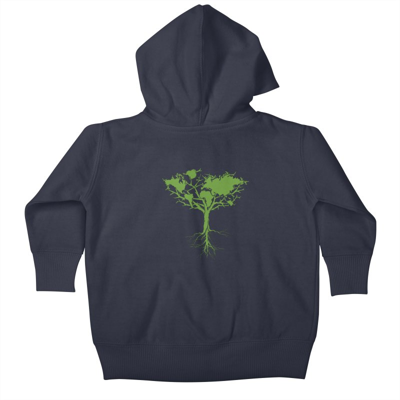 Earth Tree Kids Baby Zip-Up Hoody by Yanmos's Artist Shop