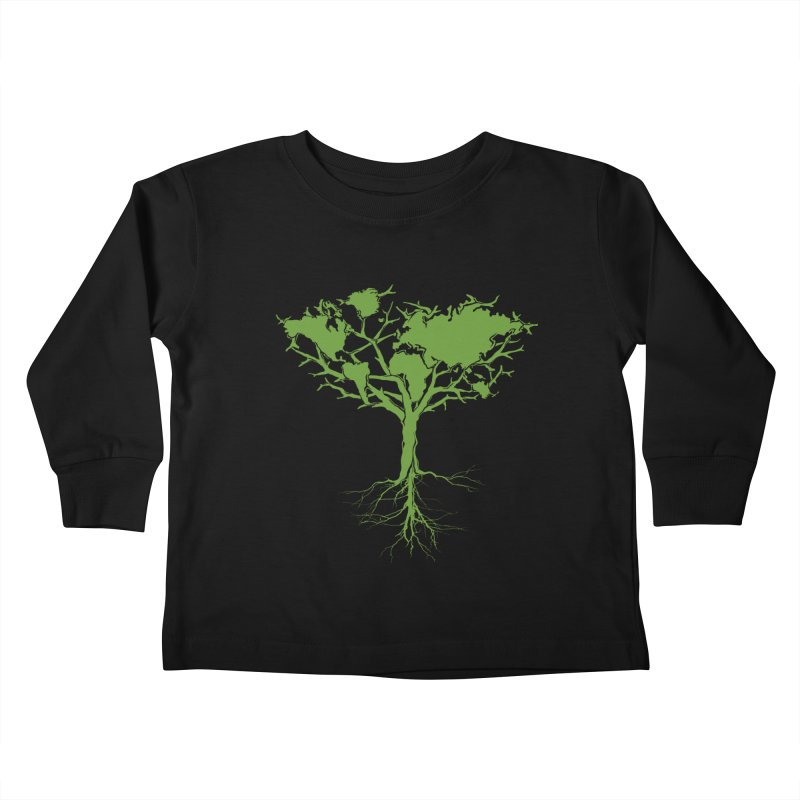 Earth Tree Kids Toddler Longsleeve T-Shirt by Yanmos's Artist Shop