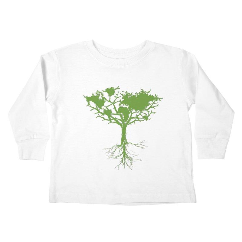 Earth Tree Kids Toddler Longsleeve T-Shirt by Yanmos's Artist Shop