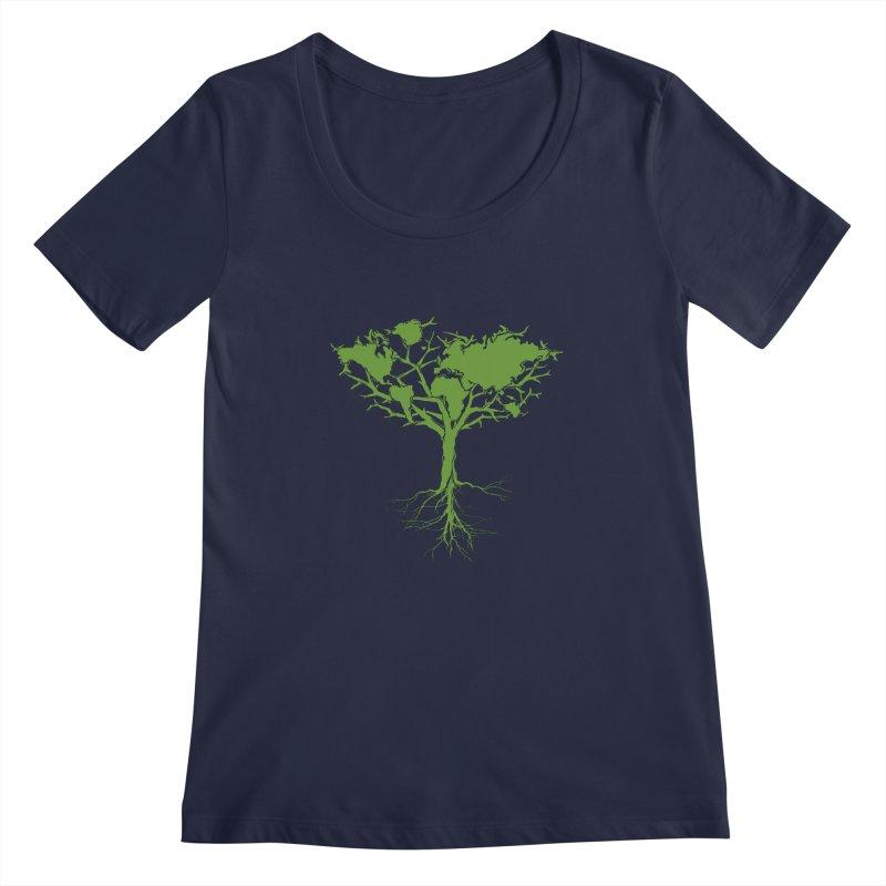 Earth Tree Women's Scoopneck by Yanmos's Artist Shop