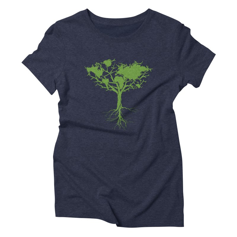 Earth Tree Women's Triblend T-shirt by Yanmos's Artist Shop