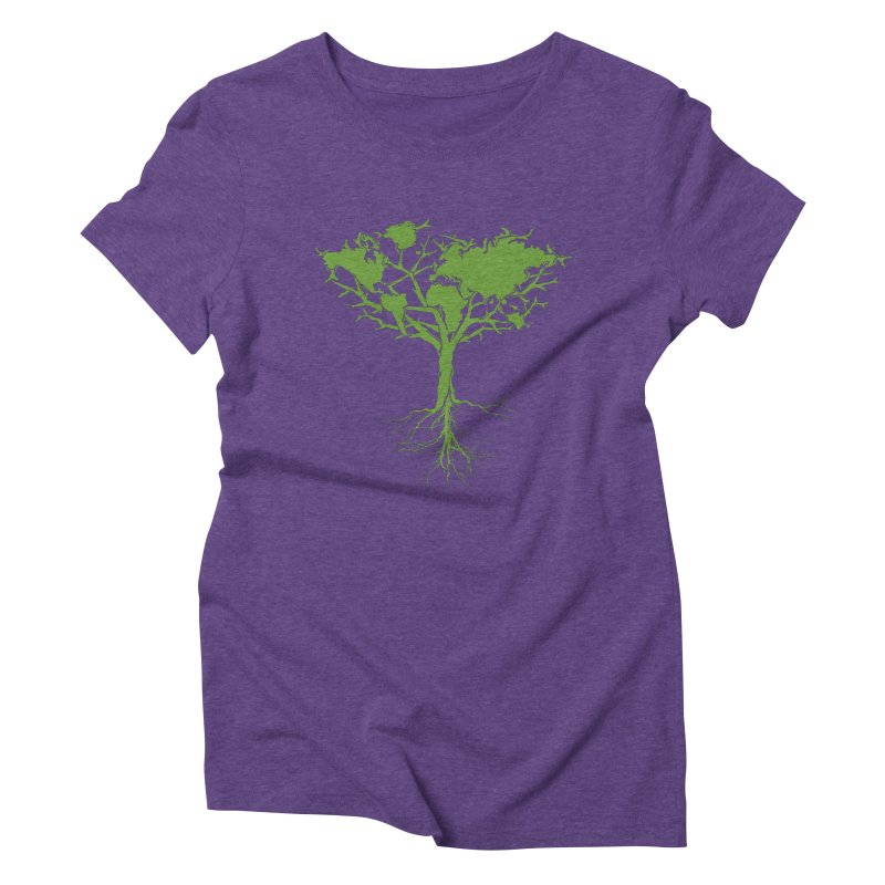 Earth Tree Women's Triblend T-shirt by Yanmos's Artist Shop