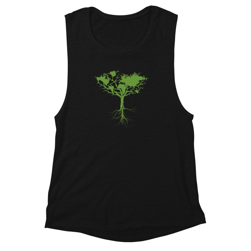 Earth Tree Women's Muscle Tank by Yanmos's Artist Shop