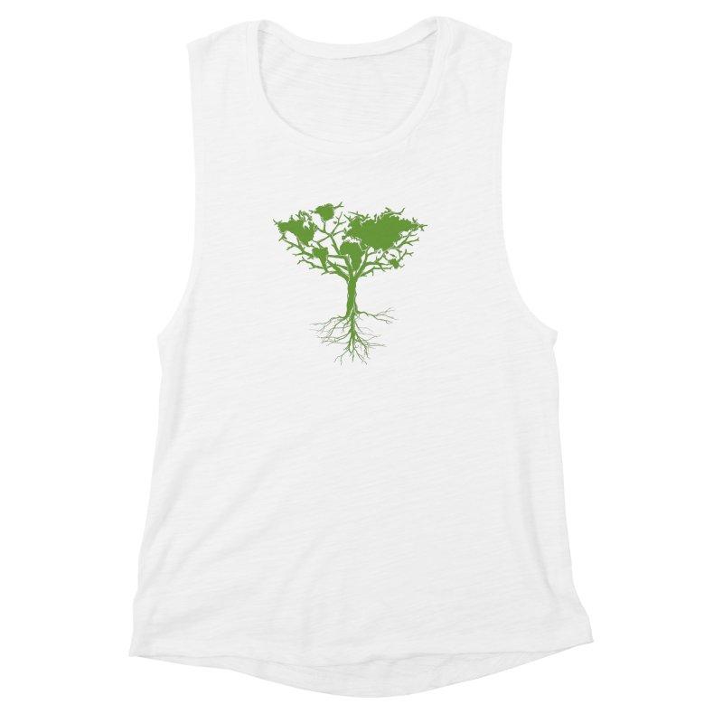 Earth Tree Women's Muscle Tank by Yanmos's Artist Shop