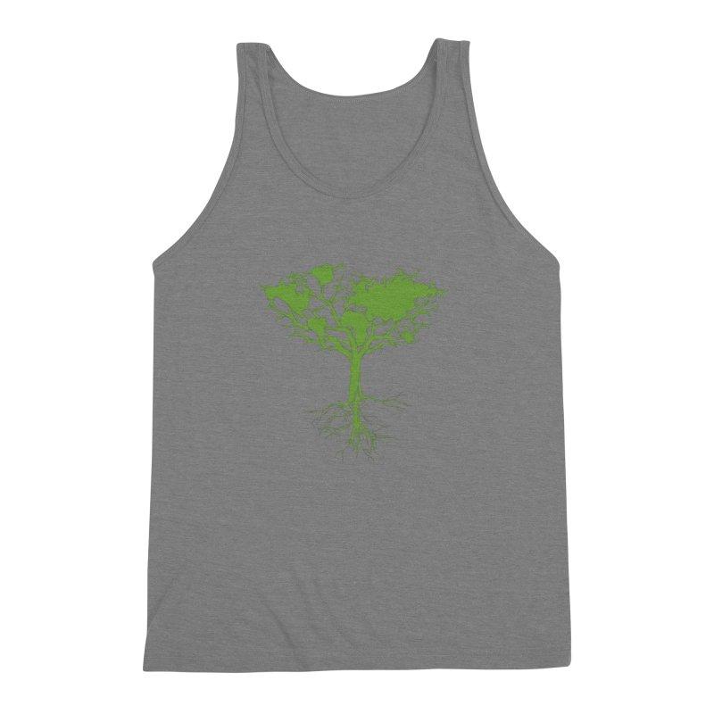 Earth Tree Men's Triblend Tank by Yanmos's Artist Shop