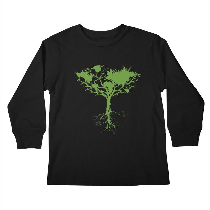 Earth Tree Kids Longsleeve T-Shirt by Yanmos's Artist Shop