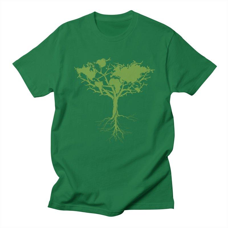 Earth Tree Men's T-Shirt by YANMOS