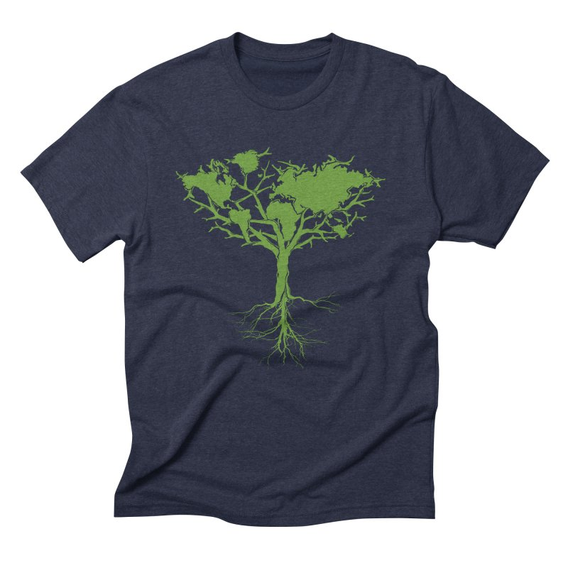Earth Tree Men's Triblend T-Shirt by YANMOS