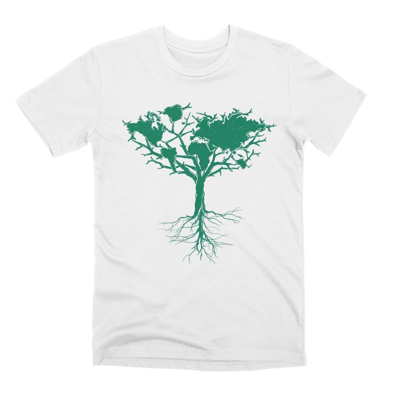 Earth Tree Men's T-Shirt by YANMOS