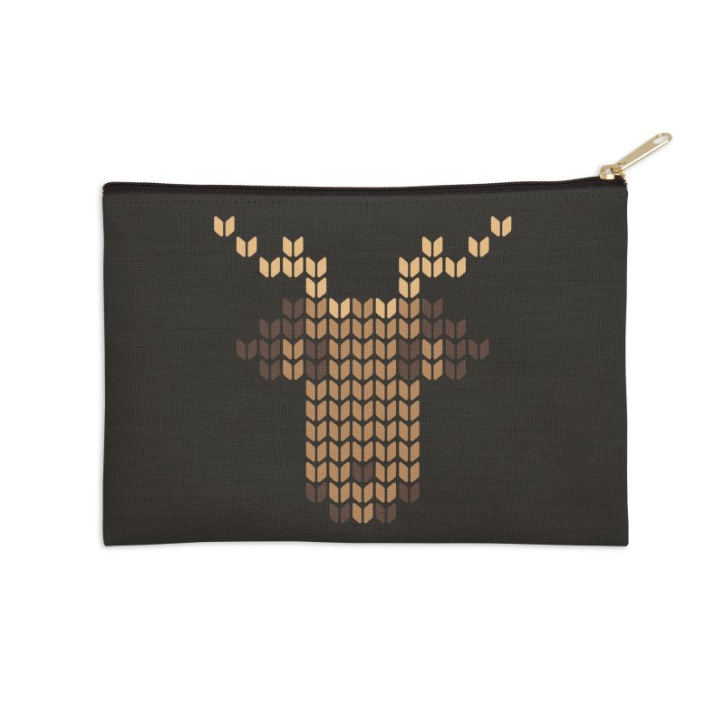 Christmas' Deer Accessories Zip Pouch by YANMOS