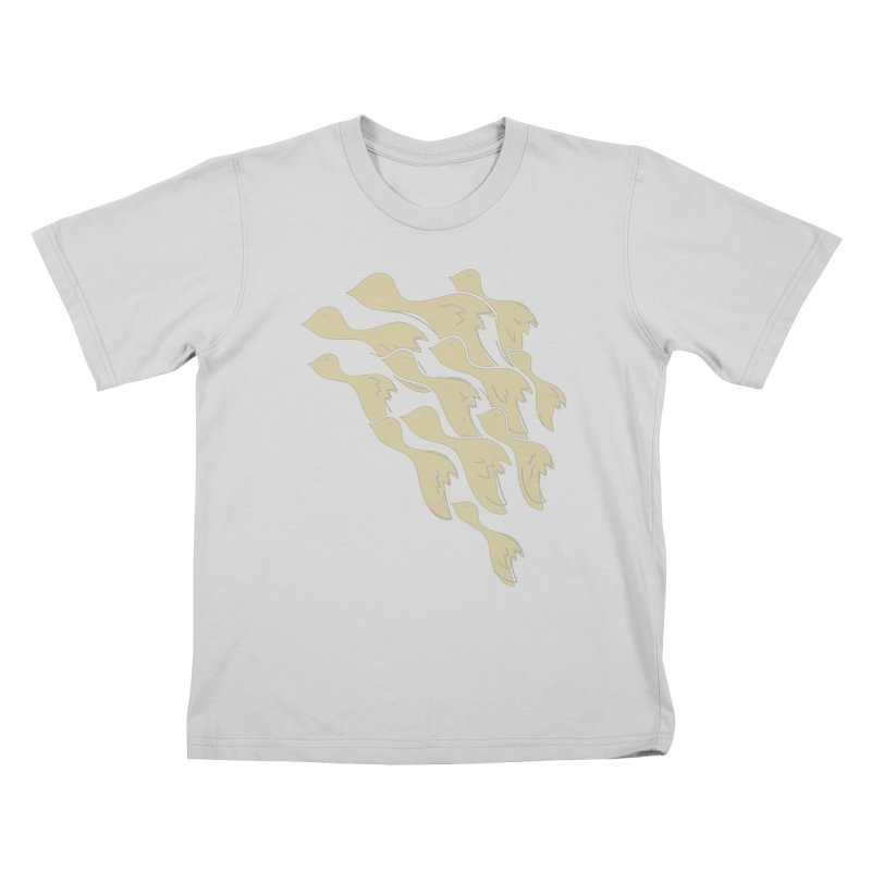 Flying birds Kids T-Shirt by YANMOS
