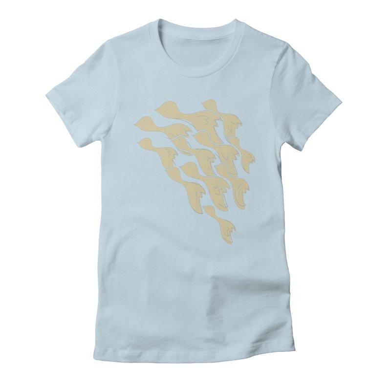 Flying birds Women's T-Shirt by YANMOS