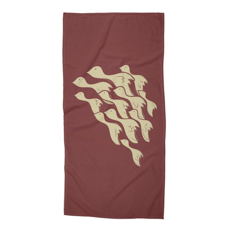 Flying birds Accessories Beach Towel by YANMOS