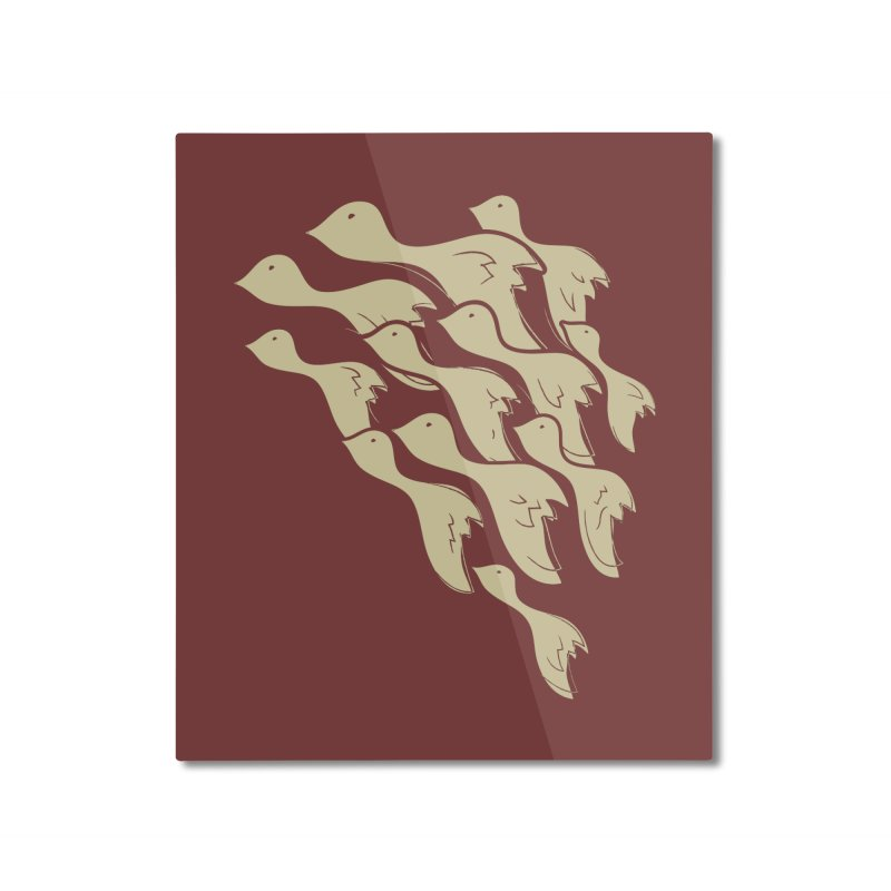 Flying birds Home Mounted Aluminum Print by YANMOS