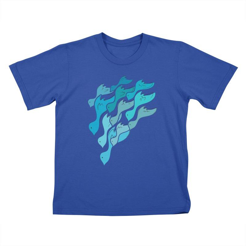 Falling Birds Kids T-shirt by Yanmos's Artist Shop