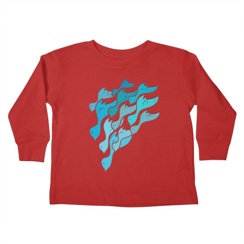 Falling Birds Kids Toddler Longsleeve T-Shirt by Yanmos's Artist Shop