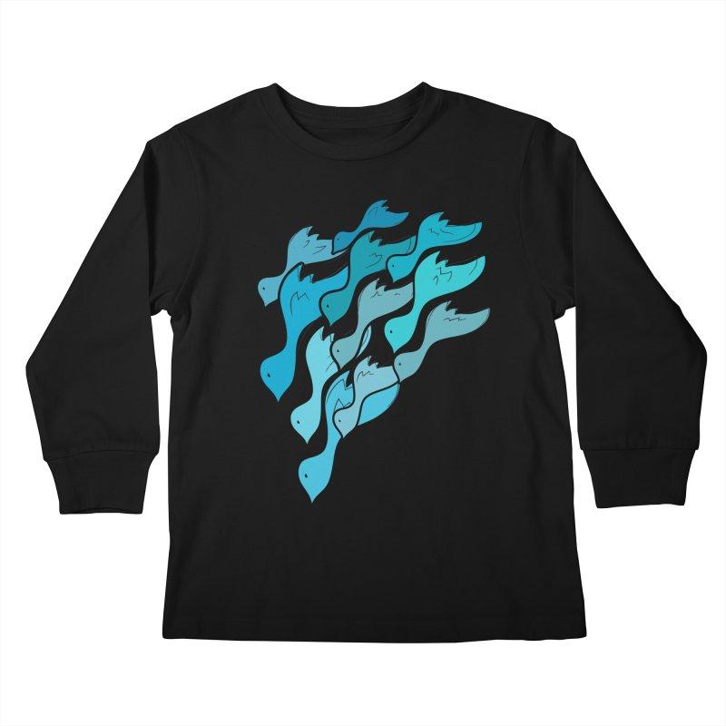 Falling Birds Kids Longsleeve T-Shirt by Yanmos's Artist Shop