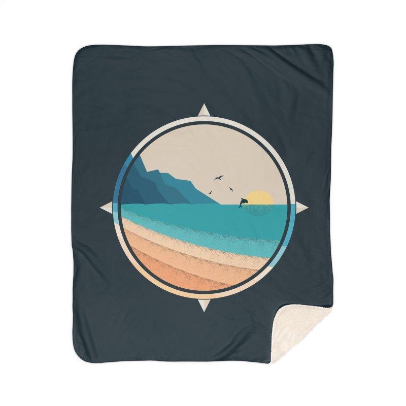Southern sun Home Sherpa Blanket Blanket by YANMOS