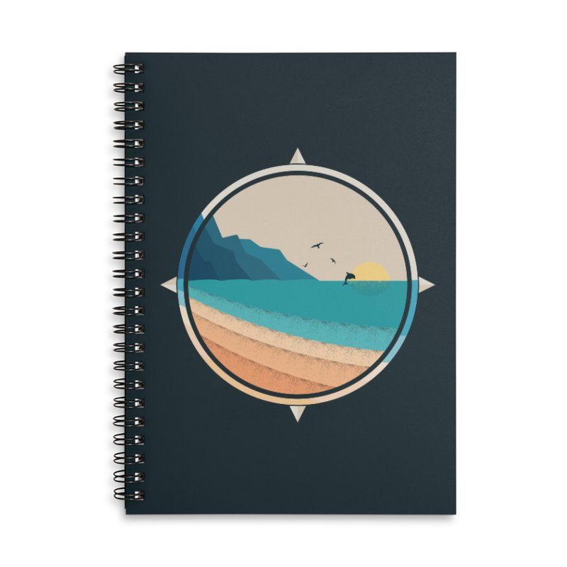 Southern sun Accessories Lined Spiral Notebook by YANMOS