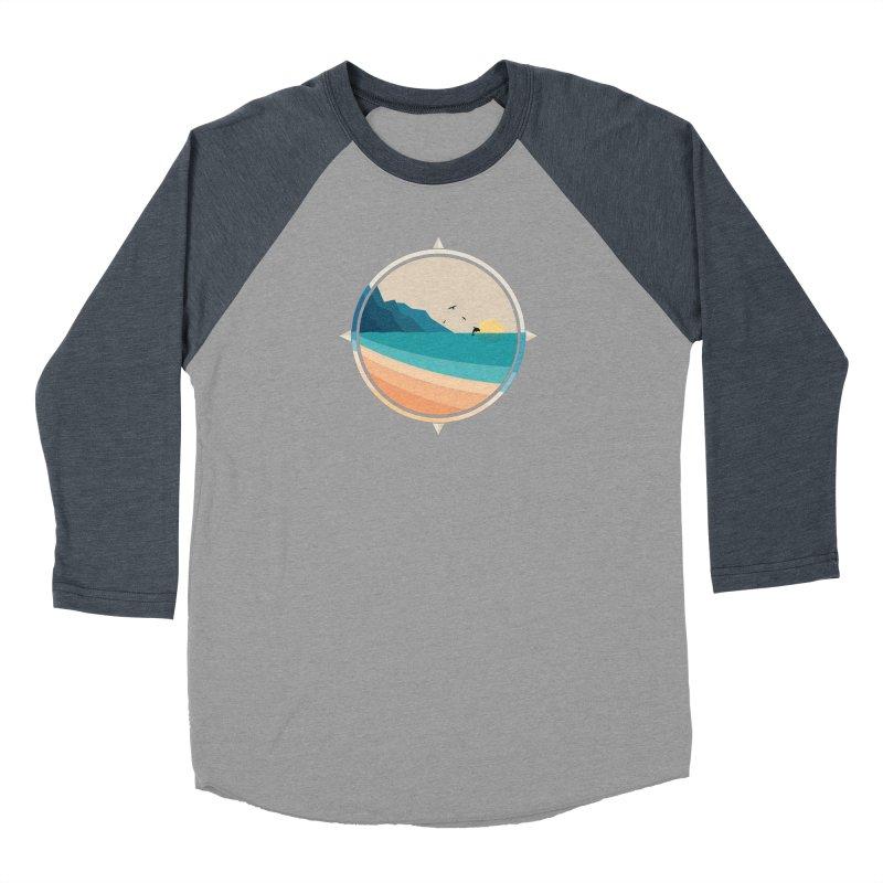 Southern sun Women's Baseball Triblend Longsleeve T-Shirt by YANMOS