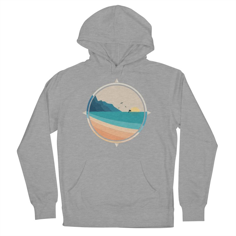 Southern sun Men's French Terry Pullover Hoody by YANMOS