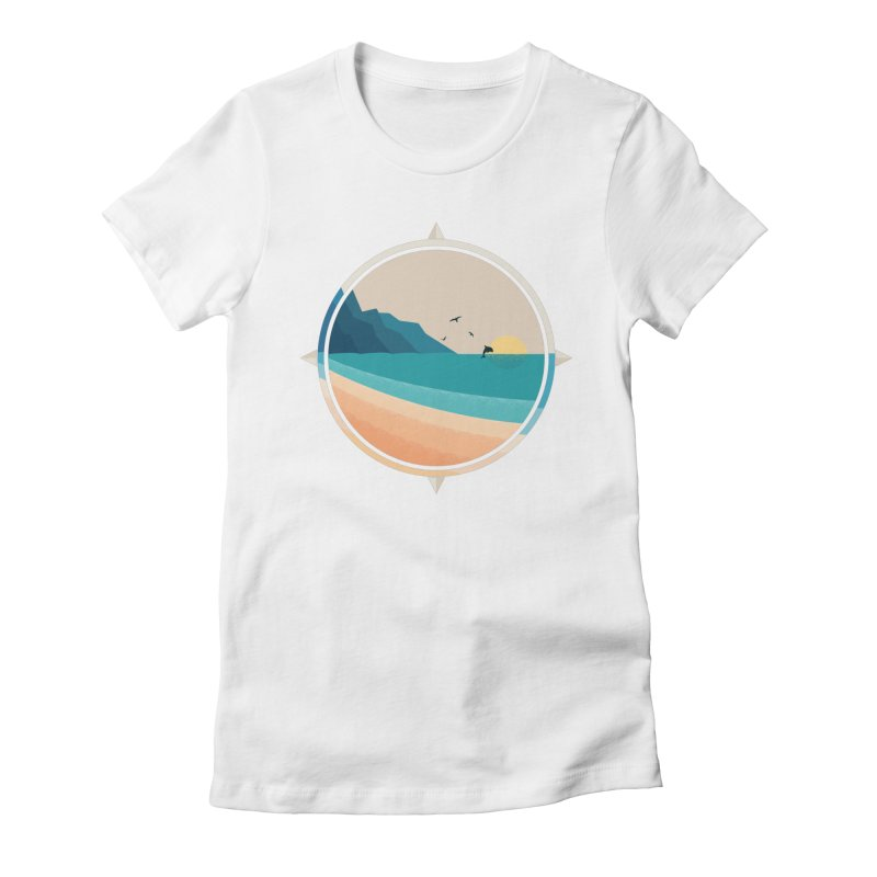 Southern sun Women's Fitted T-Shirt by YANMOS