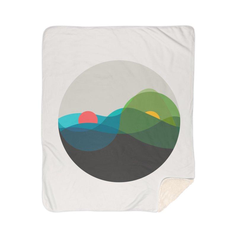 Sunrise vs Sunset Home Sherpa Blanket Blanket by YANMOS
