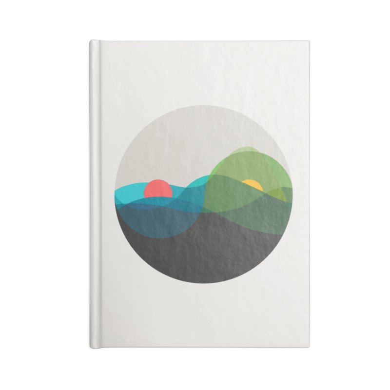 Sunrise vs Sunset Accessories Lined Journal Notebook by YANMOS