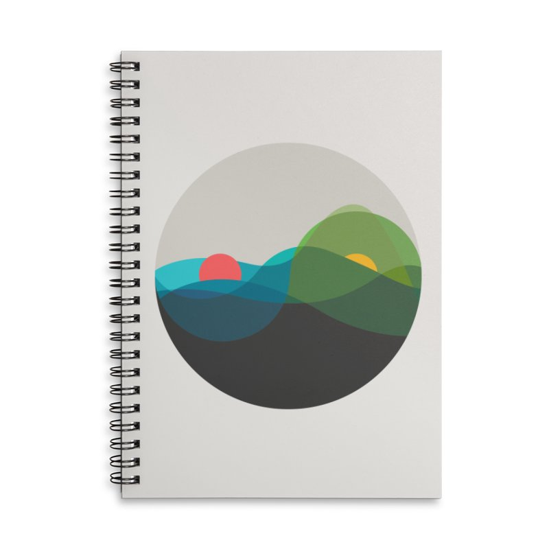 Sunrise vs Sunset Accessories Lined Spiral Notebook by YANMOS