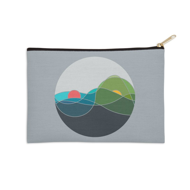 Sunrise vs Sunset Accessories Zip Pouch by YANMOS