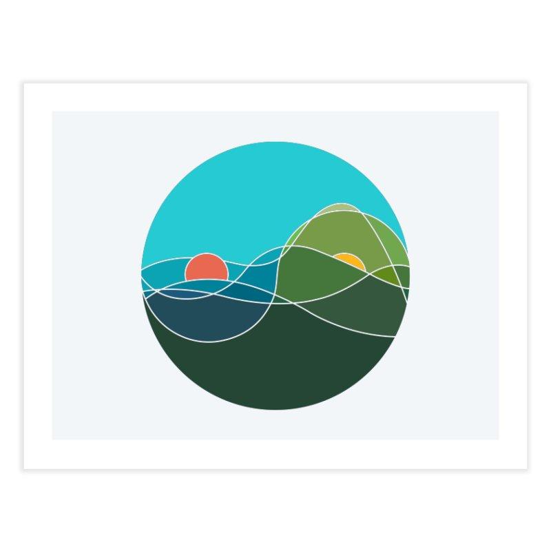 Sunrise vs Sunset Home Fine Art Print by YANMOS