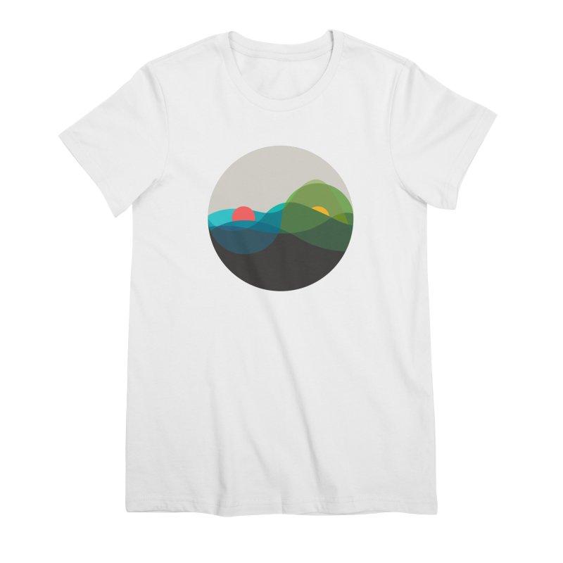 Sunrise vs Sunset Women's Premium T-Shirt by YANMOS