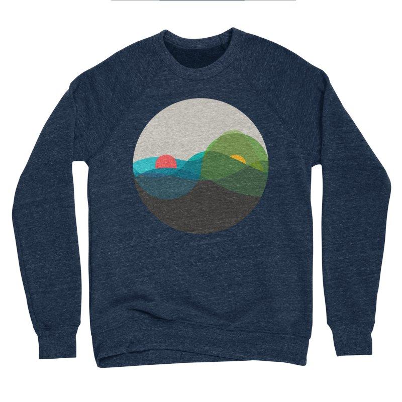 Sunrise vs Sunset Men's Sponge Fleece Sweatshirt by YANMOS