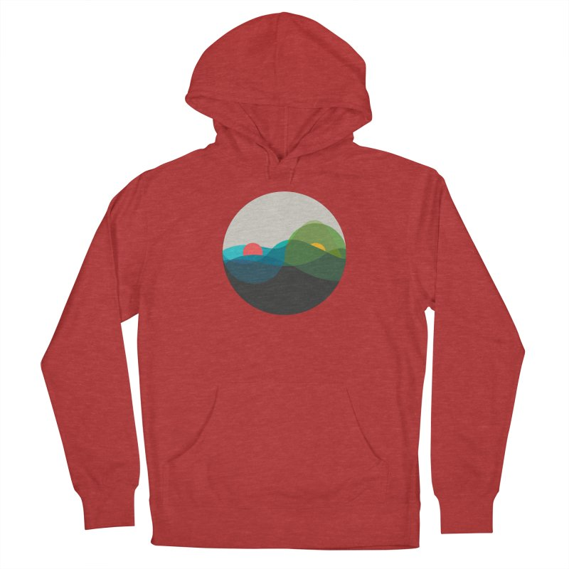 Sunrise vs Sunset Women's French Terry Pullover Hoody by YANMOS