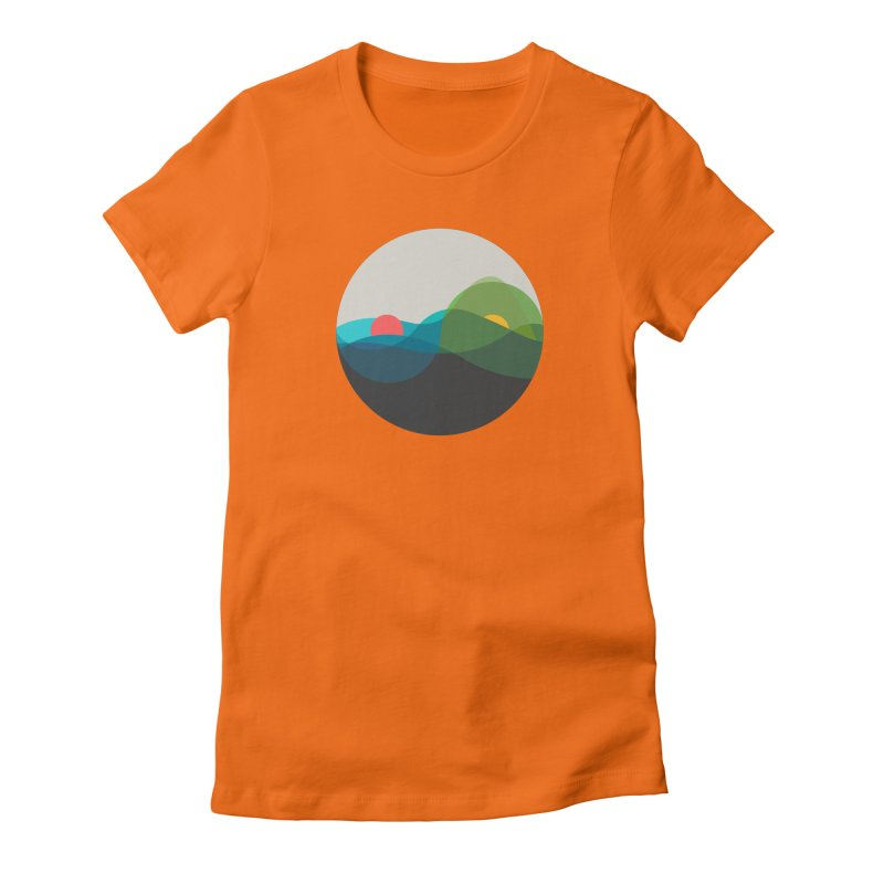 Sunrise vs Sunset Women's Fitted T-Shirt by YANMOS