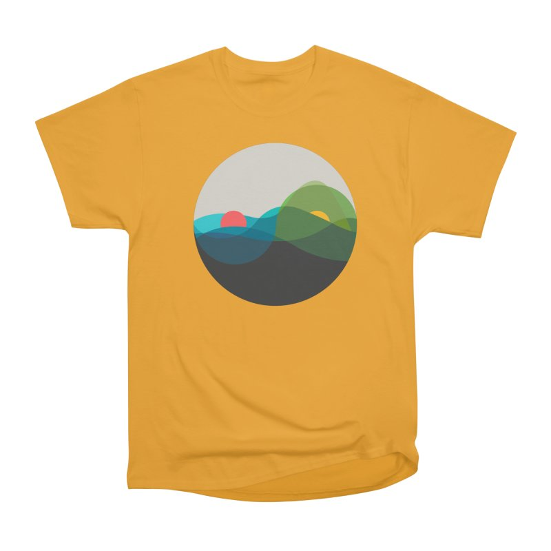 Sunrise vs Sunset Men's Heavyweight T-Shirt by YANMOS