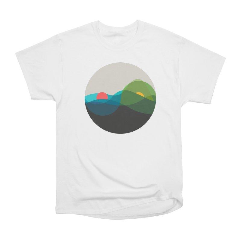 Sunrise vs Sunset Women's Heavyweight Unisex T-Shirt by YANMOS