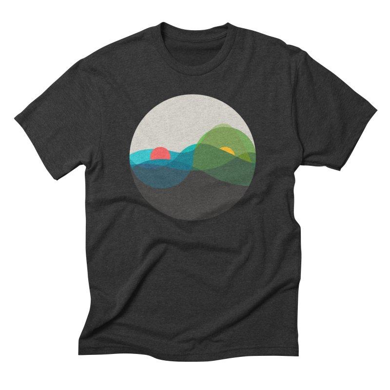 Sunrise vs Sunset Men's Triblend T-Shirt by YANMOS