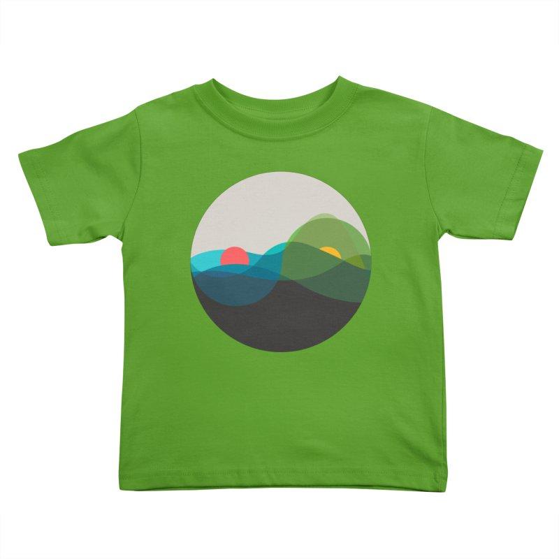 Sunrise vs Sunset Kids Toddler T-Shirt by YANMOS