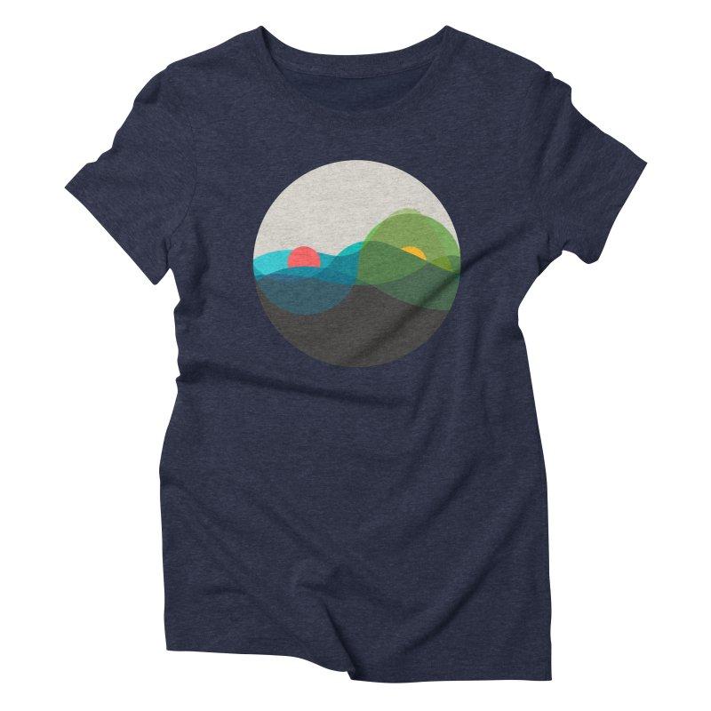 Sunrise vs Sunset Women's Triblend T-Shirt by YANMOS