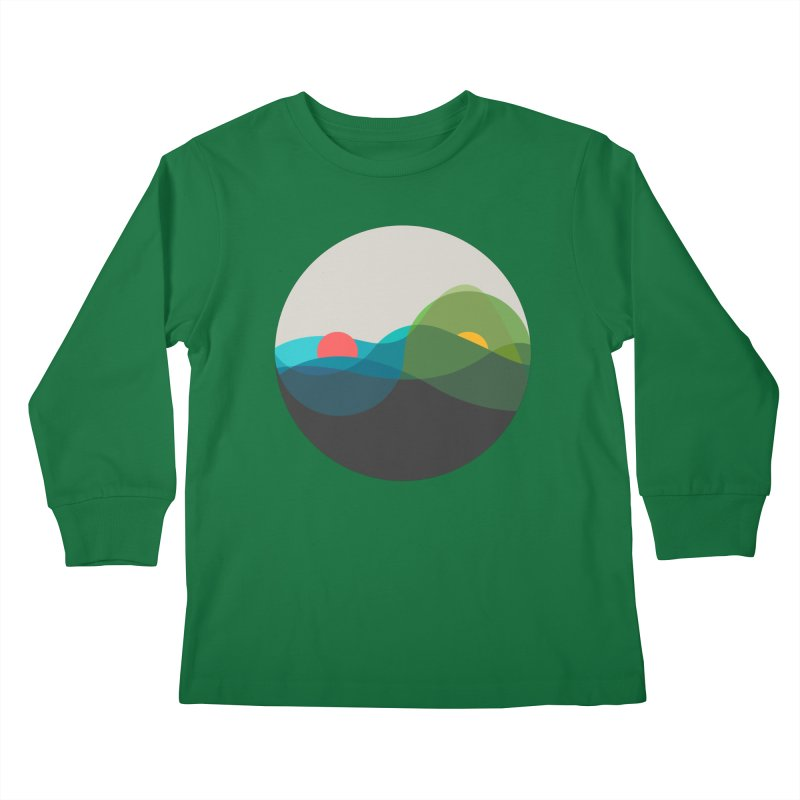 Sunrise vs Sunset Kids Longsleeve T-Shirt by YANMOS